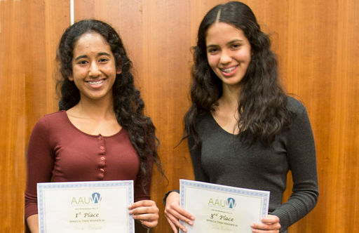 Oakwood High School Students Place in Top Three at AAUW Speech Trek Competition