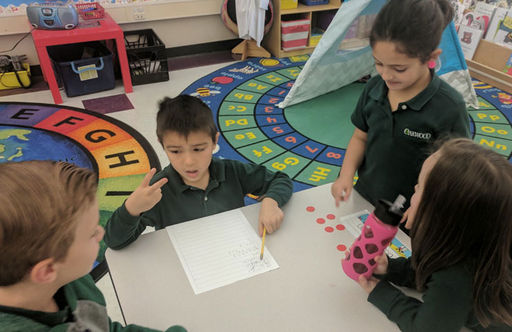 Oakwood Kindergarteners Work Together To Master Math Skills