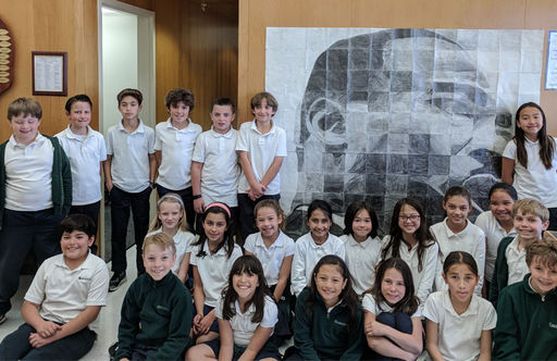 Oakwood 4th Grade Students Work Together to Create a Mural of Martin Luther King Jr.