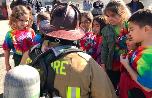 Oakwood Kindergarteners Learn and Explore at Local Fire Station