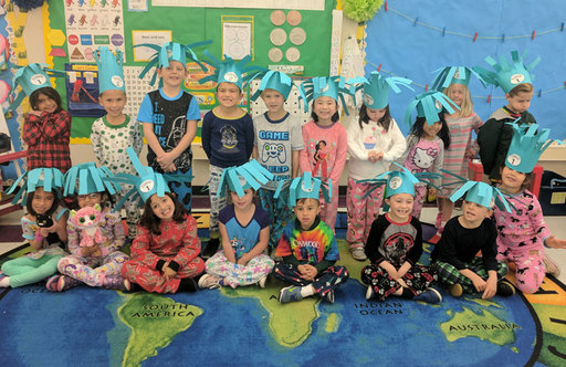 Oakwood Kindergarteners Celebrate Reading with Dr. Seuss-Themed Activities