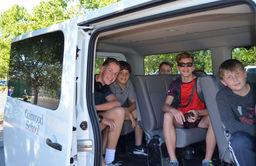 Shuttle Service Helps Oakwood Families and the Environment
