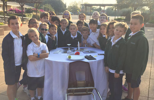 Third Grade Students Commemorate Veterans Day With White Table Tradition