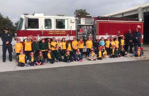 Kindergarten Students Learn and Explore at Local Fire Station