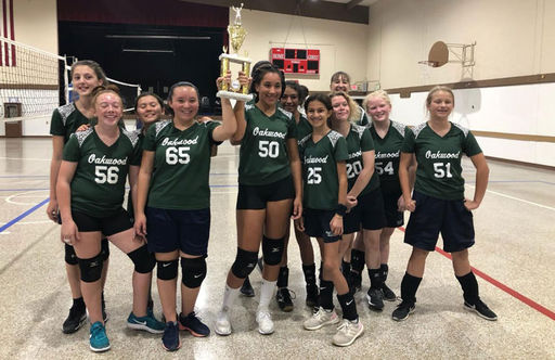 Eighth Grade Girls Volleyball Team Wins San Benito Athletic League Championship