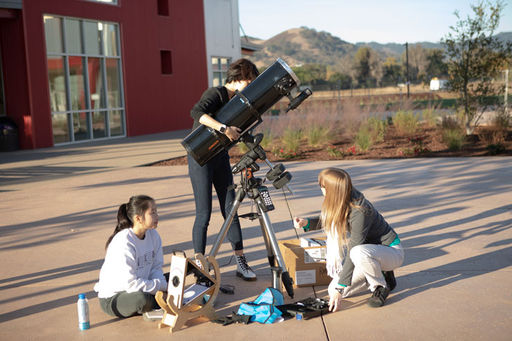 Astronomy Students Set Up Observation Party for Viewing Mercury in Transit