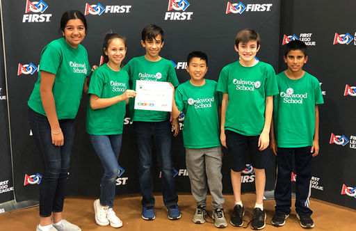 7th Grade Team Receives 2nd Place Alliance Award in Lego League Peninsula Championship