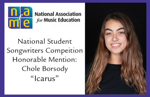 Oakwood Senior Chloe Borsody Receives Honorable Mention in National Songwriters Competition