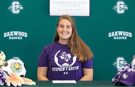 Lydia Sattler Signs Her National Letter of Intent to Stephen F. Austin State University