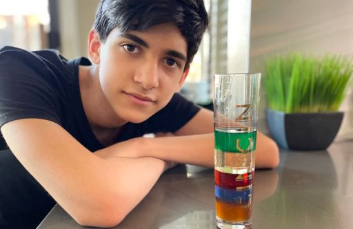 Chemistry Students Create Density Towers At Home