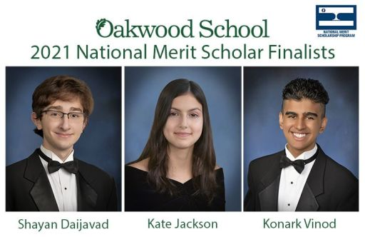 Oakwood High School Seniors Named National Merit Scholarship Finalists