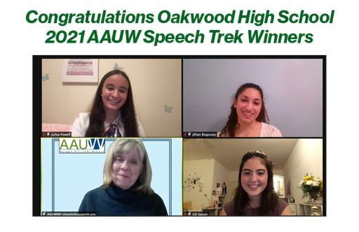 Oakwood High School AAUW Speech Trek Winners of 2021